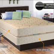 Chiro Premier Orthopedic Beige Color Full Size 54 X75 X9 Mattress And Box Spring Set Y Assembled Good For Your Back Superior Quality