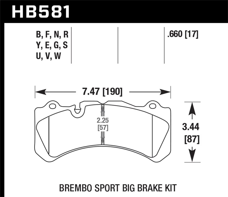 Hawk 09 Nissan Gt R R35 Brembo Dtc 70 Race Front Brake
