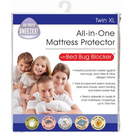 All In 1 Bed Bug Blocker Mattress Protector Twin Xl
