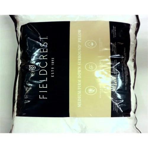 fieldcrest luxury fieldcrest down surround medium firm pillow 0255212