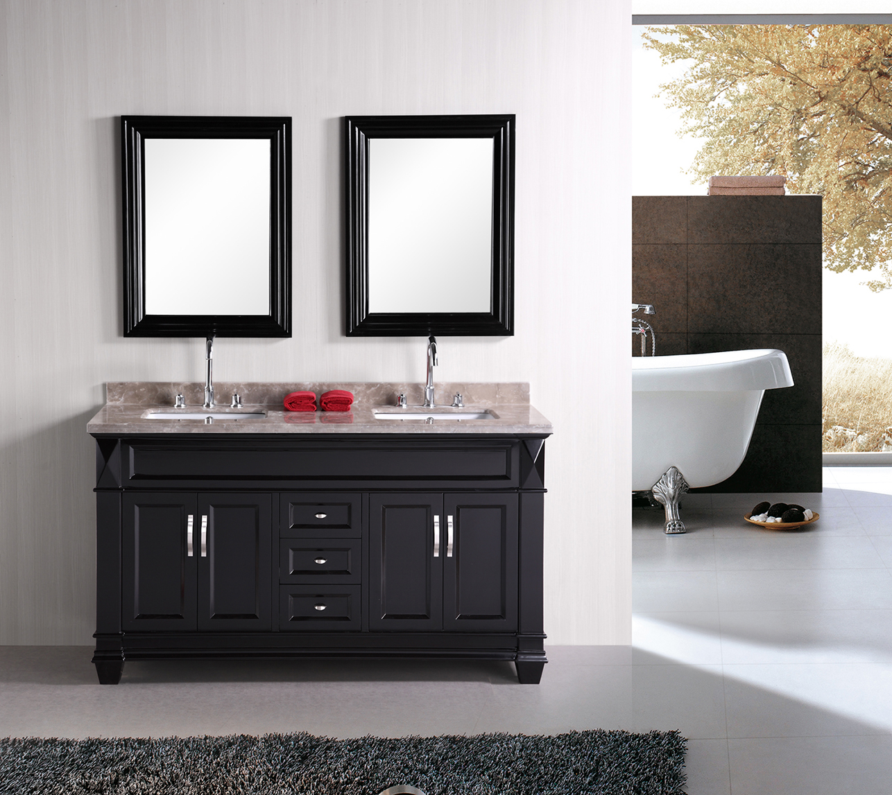 mirror 61 inch design element dec059c