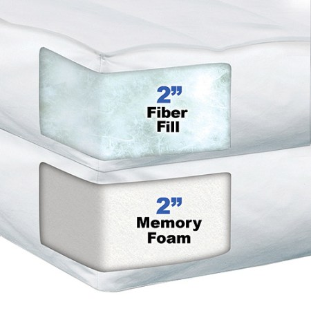 Sleep Innovations 4 Dual Layer Memory Foam Mattress Topper