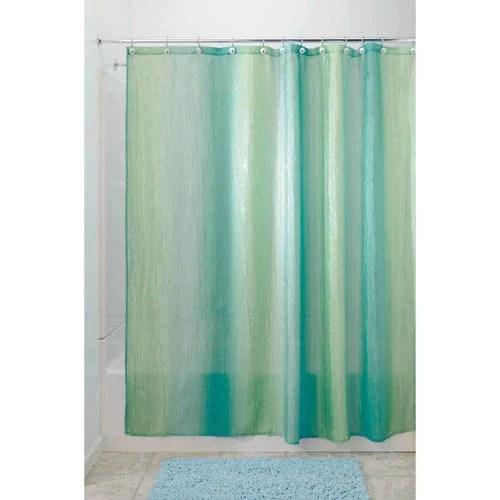 interdesign ombre fabric shower curtain standard 72 x 72 blue green
