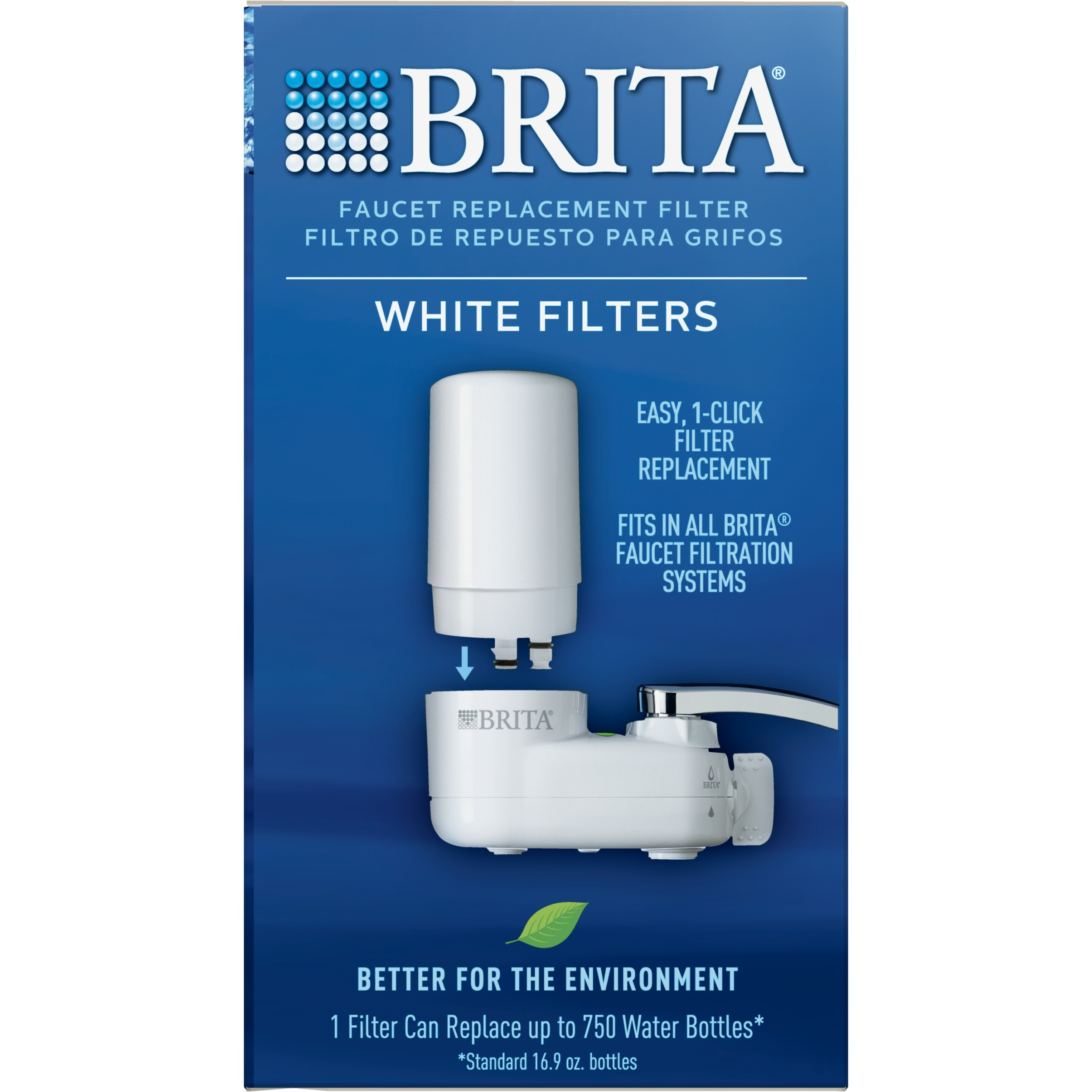 brita tap water faucet filter replacement 2 count white