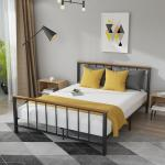 Metal Full Platform Bed Frame Yofe Full Metal Bed Frame With Headboard And Footboard Full Metal Bed Frame No Box Spring Needed Sturdy Metal Full Bed Frame For Bedroom Dorm Guest Room