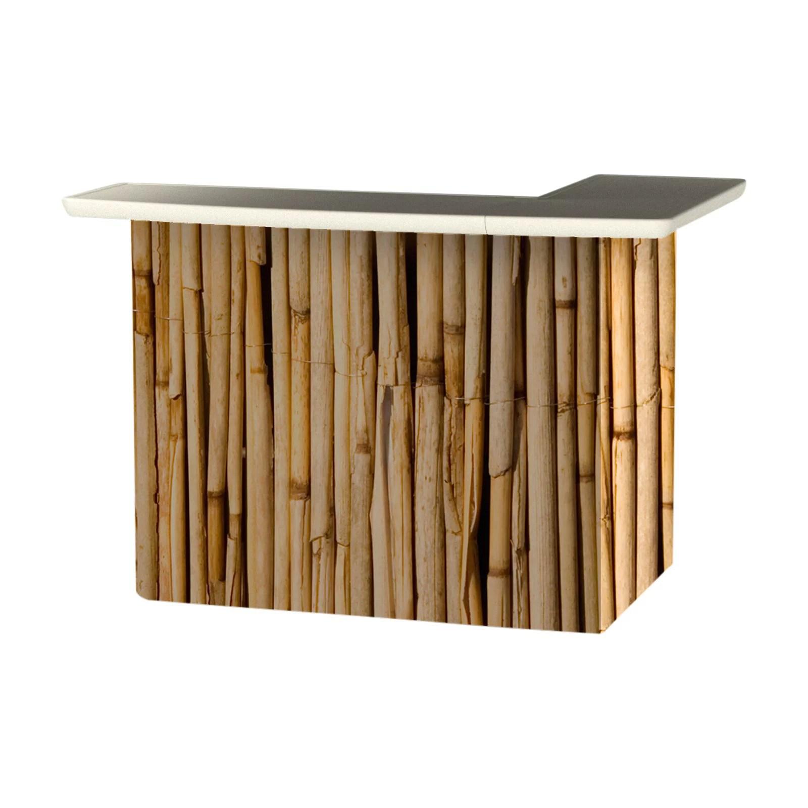 Best of Times Hawaiian Bamboo Portable Outdoor Bar ... on Portable Backyard Bar id=95625