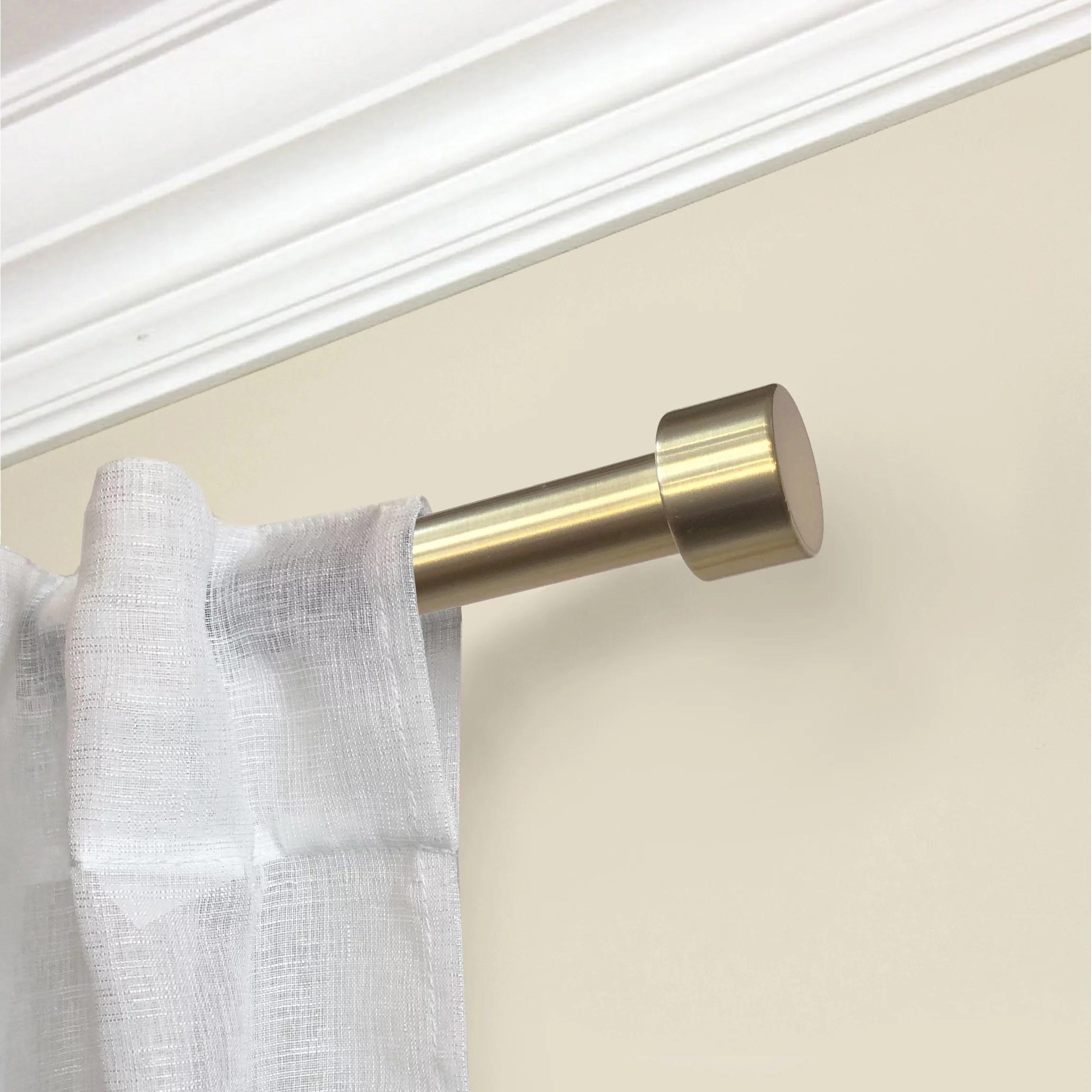 mainstays end cap 3 4 dia 30 84 adjustable curtain rod gold