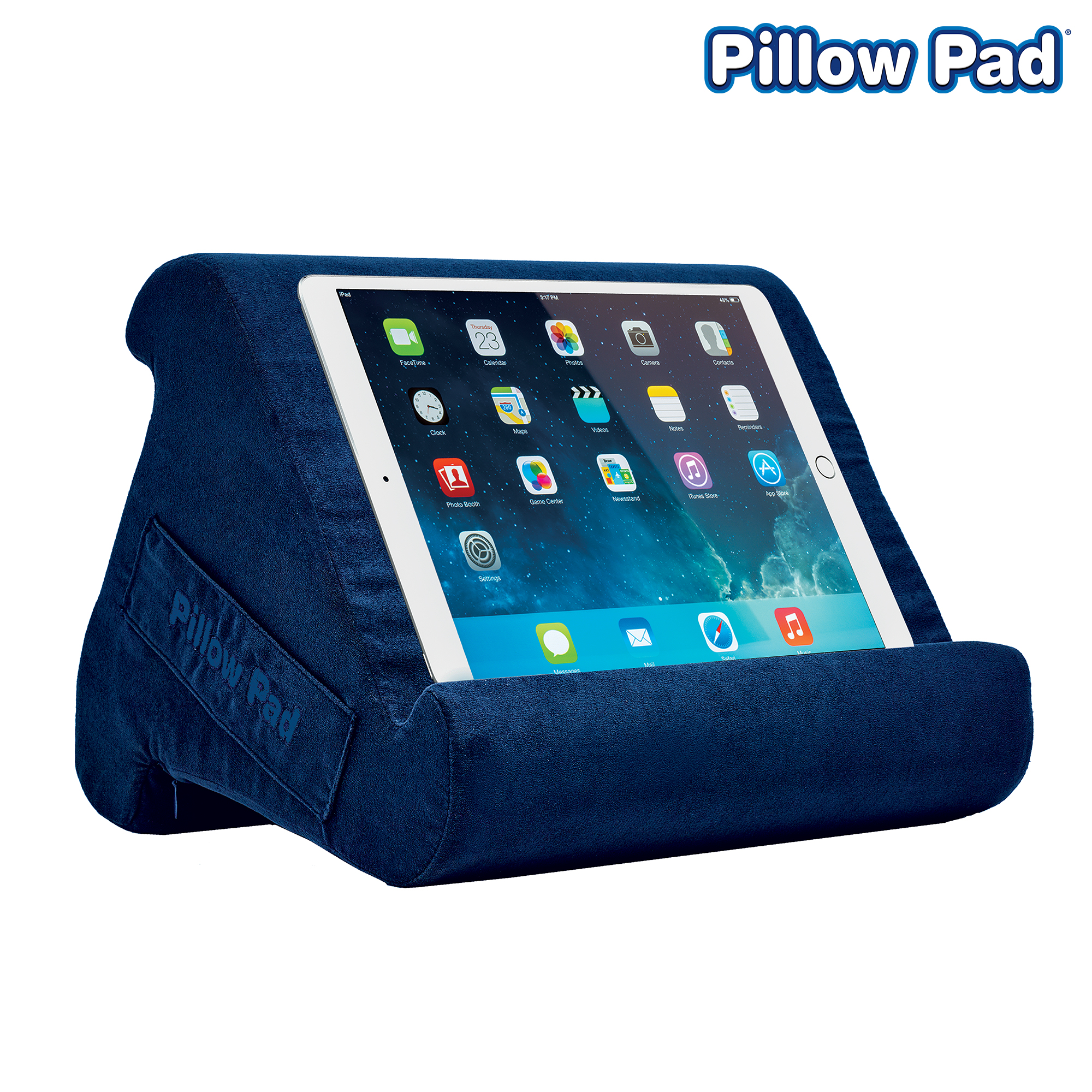 pillow pad multi angle cushioned tablet and ipad stand space gray as seen on tv