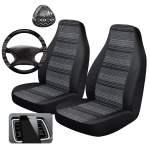 Auto Drive 5 Piece Seat Cover And Car Steering Wheel Kit Aztec Weave Walmart Com Walmart Com