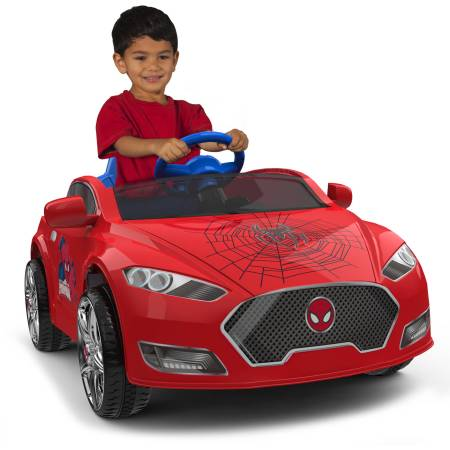 Spider-Man 6V Speed Electric Battery-Powered Coupe Ride-On