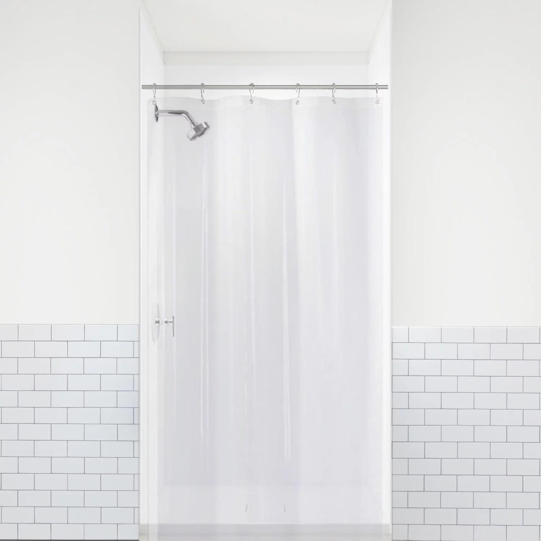 liba peva 8g small bathroom shower stall curtain liner 36 w x 72 h narrow size clear 8g heavy duty waterproof shower stall curtain liner