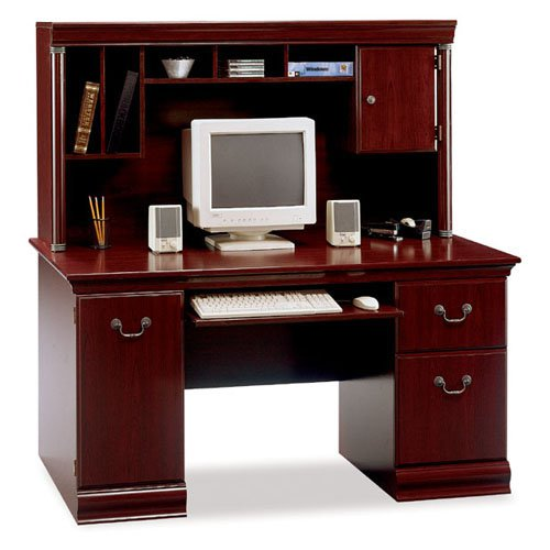 Birmingham Computer Desk With Hutch Harvest Cherry