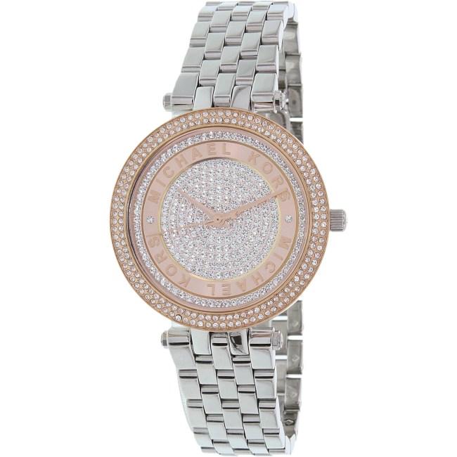 Michael Kors Women's Mini Darci MK3446 Silver Stainless-Steel Quartz Fashion Watch