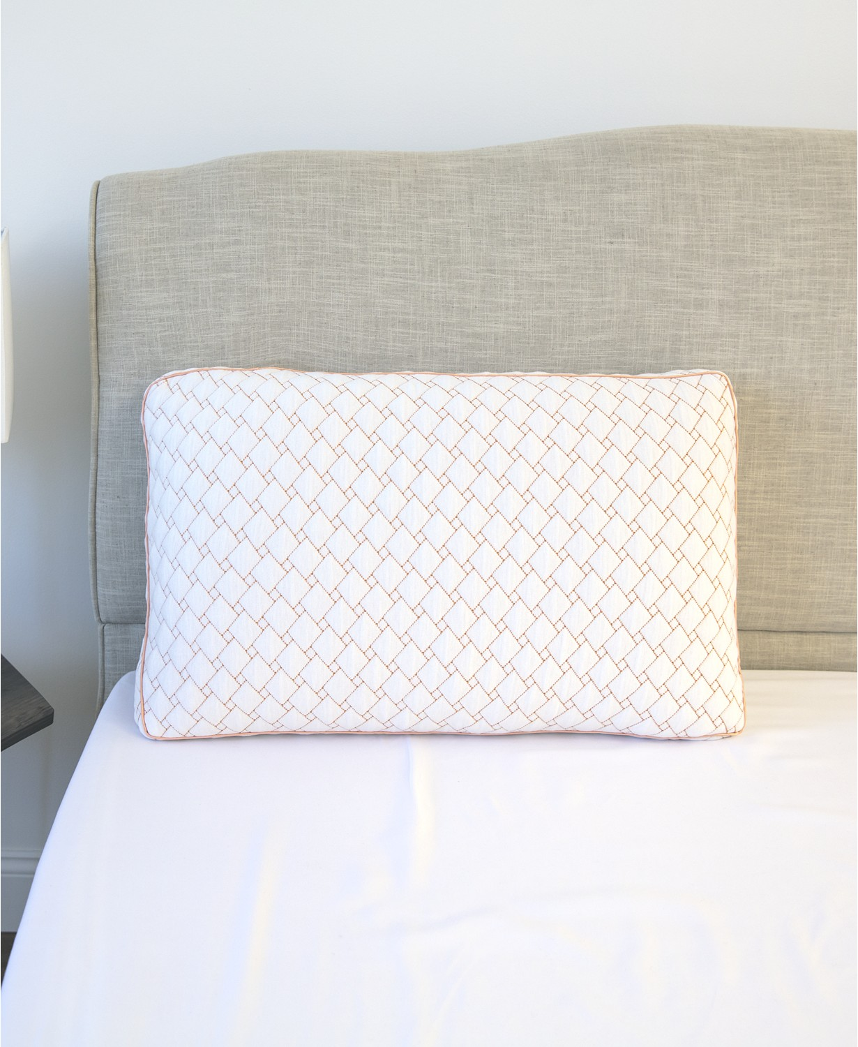sensorgel wellness supportive memory foam cluster pillow with copper infused cover standard white