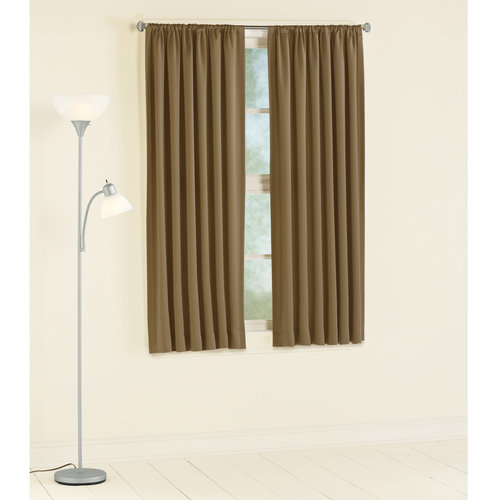Mainstays Room Darkening Curtain Panel Taupe