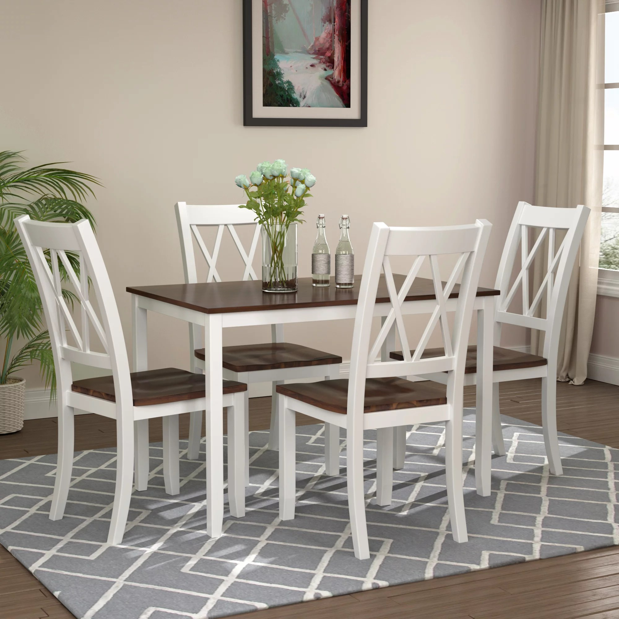 clearance dining table set with 4 chairs 5 piece wooden on dining room sets on clearance id=70109