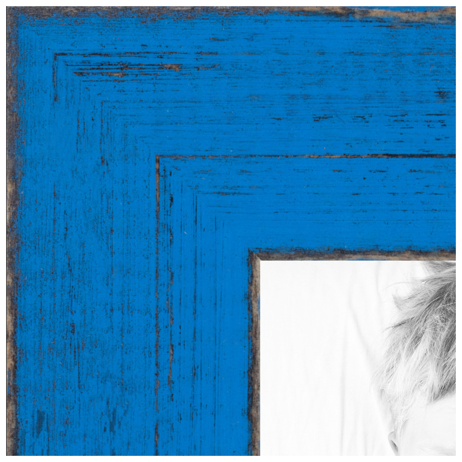 arttoframes 8x20 inch blue picture frame this blue wood poster frame is great for your art or photos comes with regular glass 4751