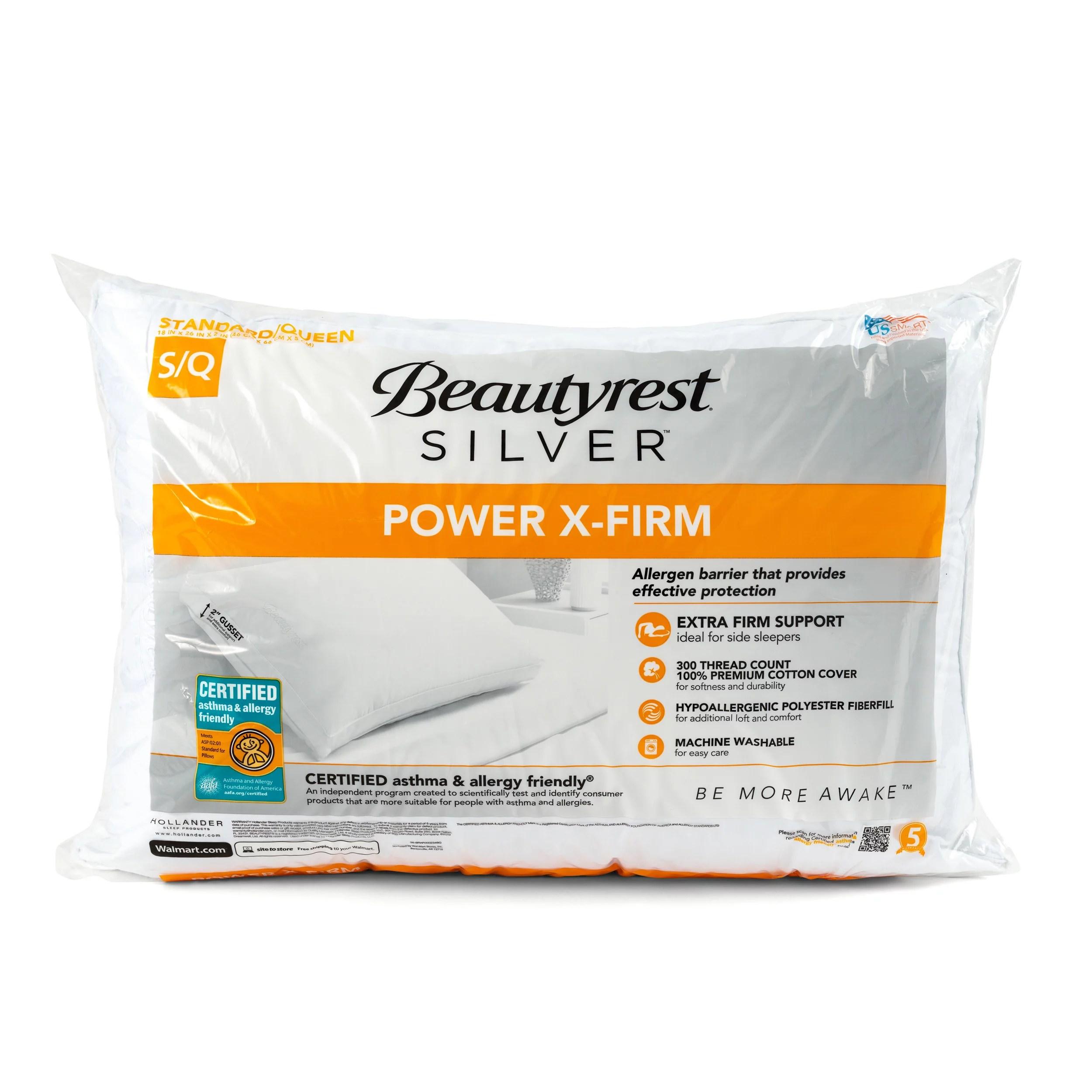 beautyrest silver power xfirm asthma allergy pillow multiple sizes