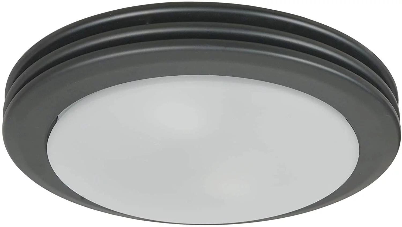hunter 90054 saturn decorative bathroom ventilation fan with light matte black