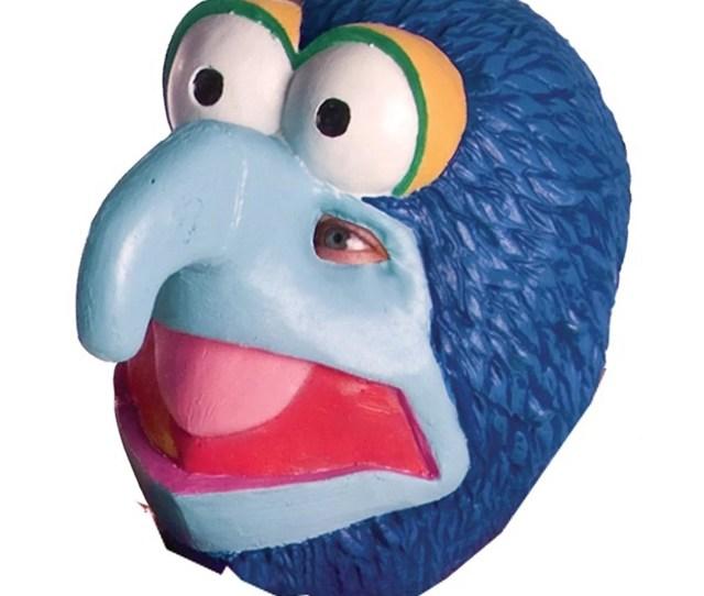 Gonzo Mask Big Nose Eyes Muppet Blue Vinyl Puppet Cartoon Halloween Costume Accessory Unisex Adult