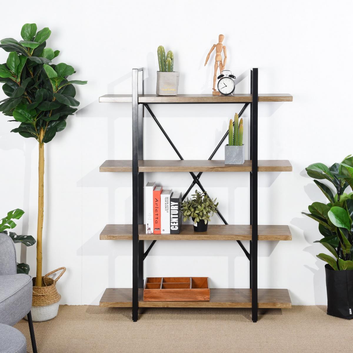 Furniture R Ladder Bookcase 4 Tiers Shelf