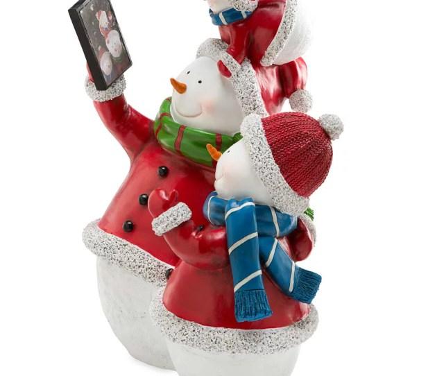 Selfie Snowman Family Indoor Outdoor Holiday Decoration