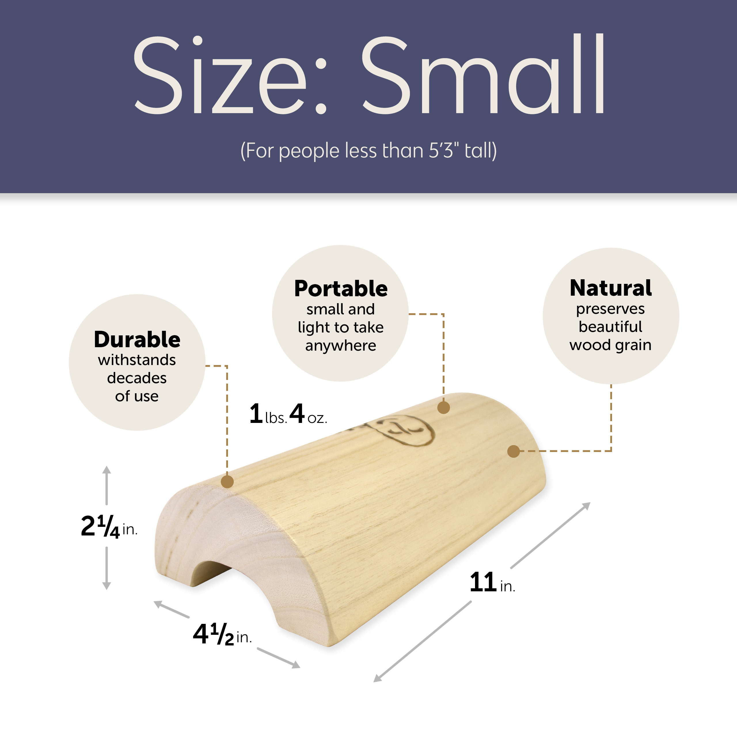 hsp wooden pillow for stiff neck shoulder pain relief and relaxation small shorter than 5 3