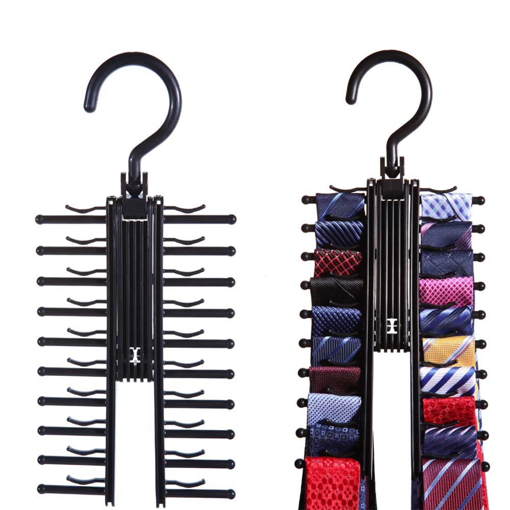 2 pack tie rack hanger the original necktie cross hanger tie rack hanger with criss cross design closet organizer
