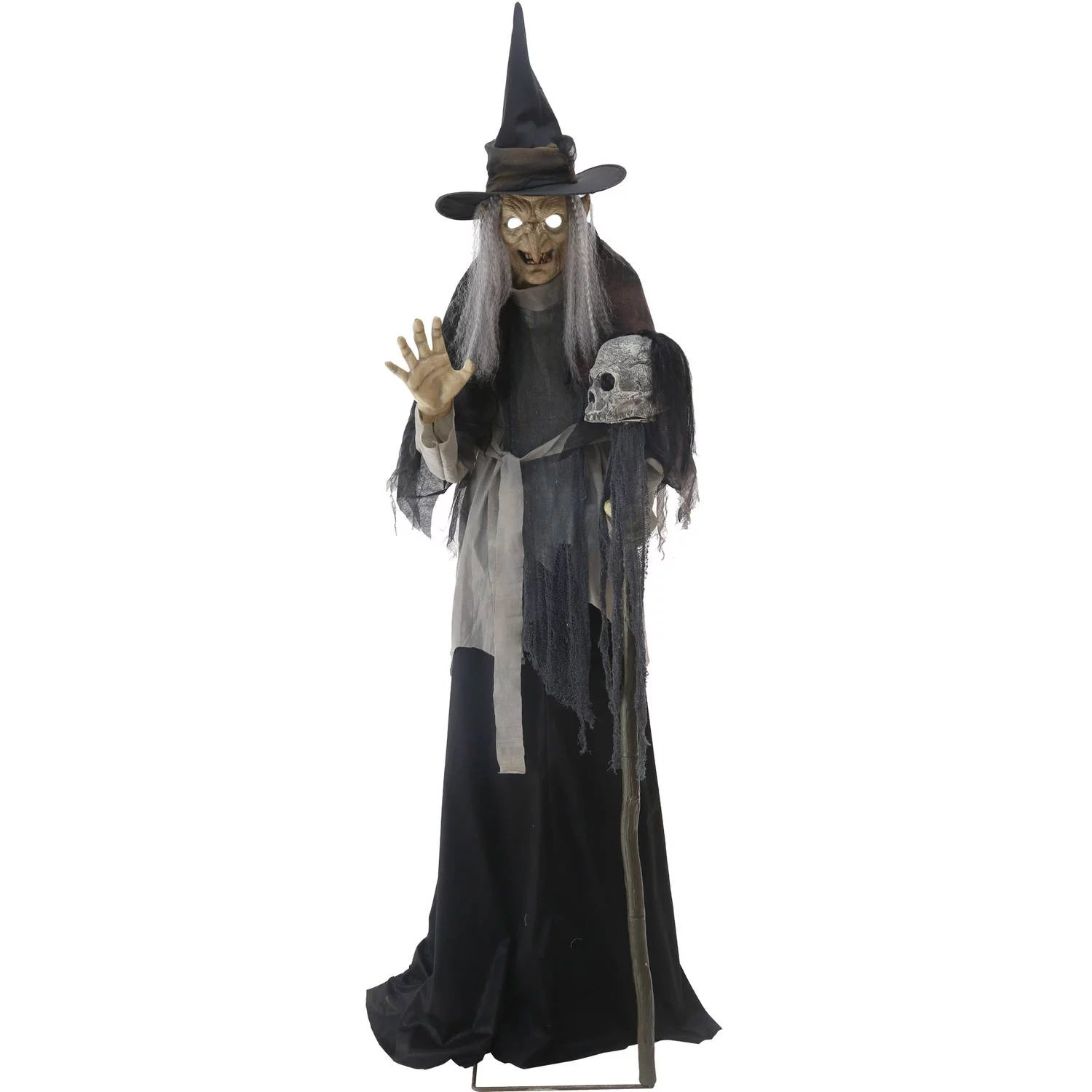 We may earn commission on some of the items you choose to buy. Lunging Haggard Witch Animated Halloween Decoration - Walmart.com - Walmart.com