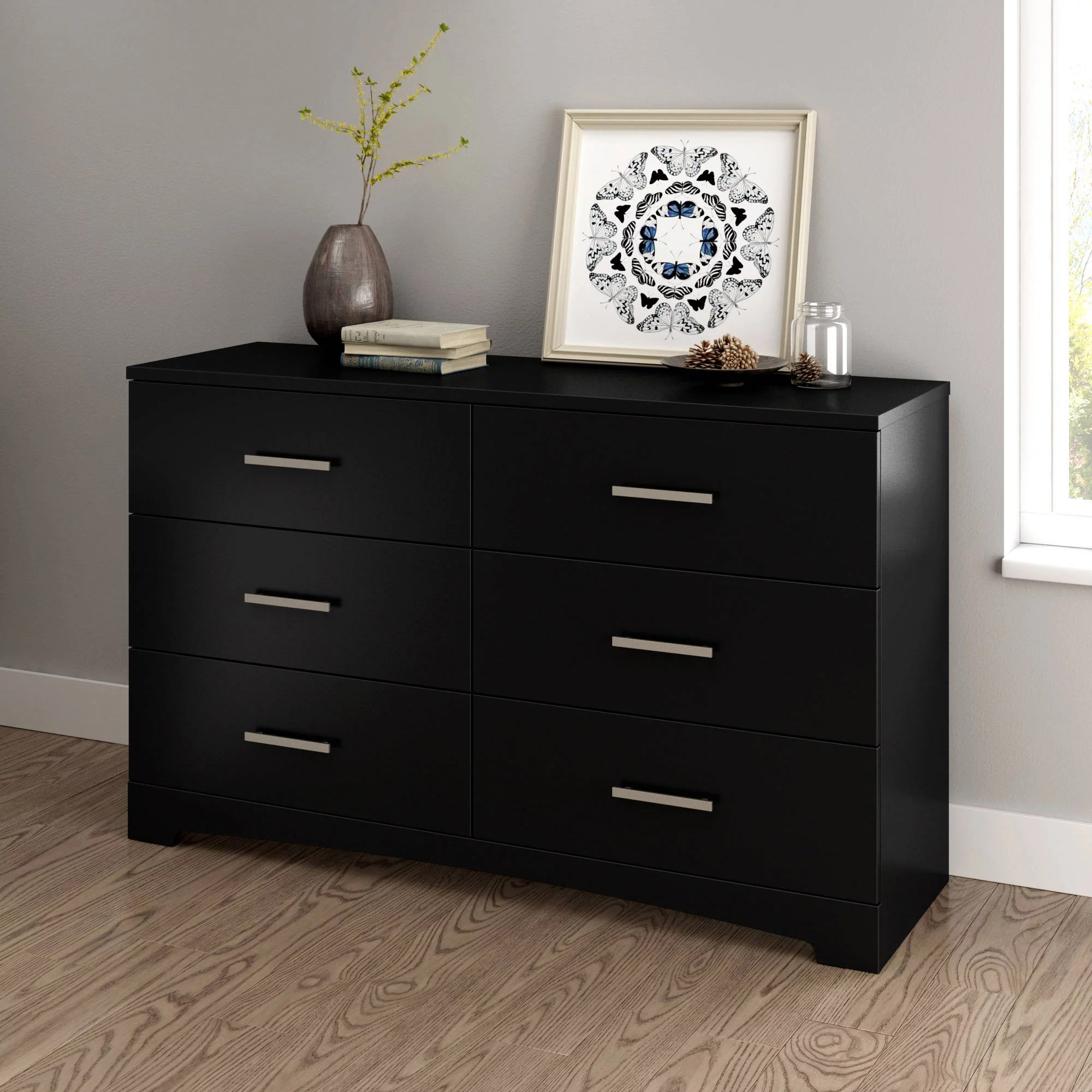 south shore gramercy 6 drawer double dresser multiple finishes walmart com