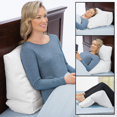 10 position folding adjustable bed wedge pillow block support comfort system white one size fits all