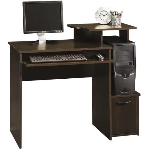 sauder beginnings computer desk cinnamon cherry finish walmart com