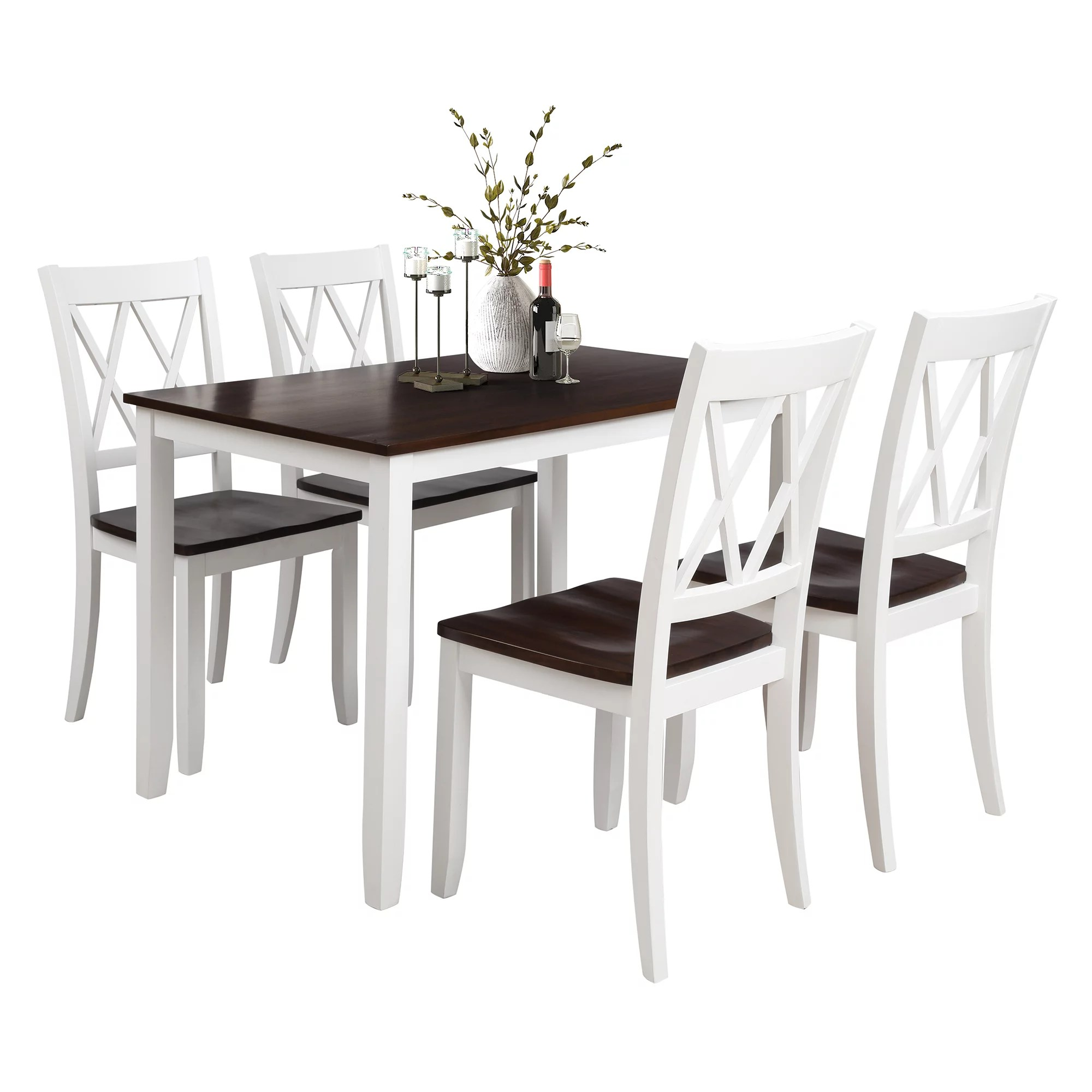clearance white dining table set for 4 modern 5 piece on dining room sets on clearance id=52270