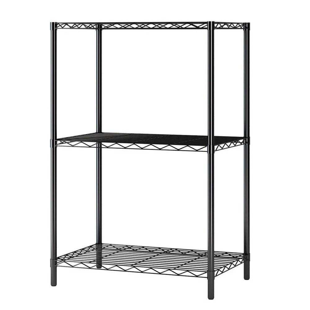 clearance 24 x 14 x 33 metal storage shelves heavy duty 3 tier wire storage shelf for kitchen sturdy bakers rack for living room office garage