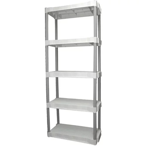plano 30 25 w x 14 25 d x 74 5 h 5 shelf plastic garage storage unit light taupe