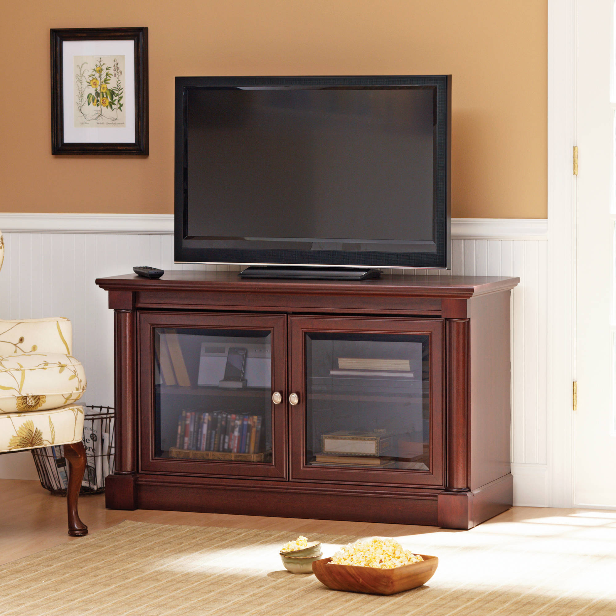 Better Homes Gardens Ashwood Road Tv Stand For Tvs Up To 47 Cherry Finish Walmart Com