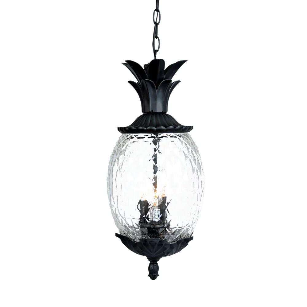 acclaim lighting 7516 3 light 21 height pineapple outdoor pendant from the lanai walmart com