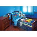 Disney Mickey Mouse Zero Gravity Toddler 4 Piece Bedding Set Walmart Com Walmart Com
