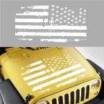 23 X34 Distressed American Flag Car Hood Vinyl Decal Sticker For Jeep Wrangler Walmart Com Walmart Com