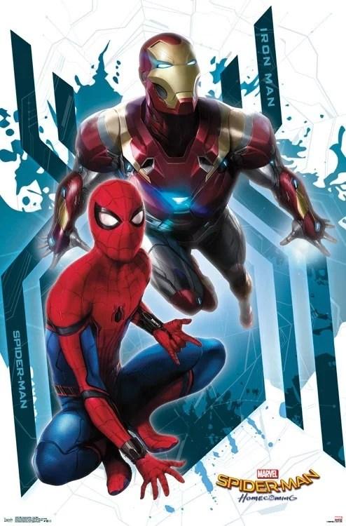 spider man homecoming iron man poster print 22 x 34