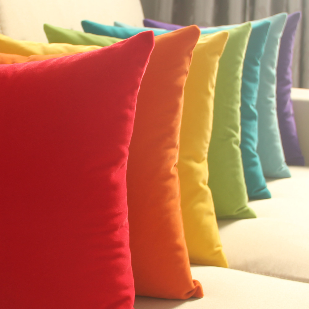 45cm x 45cm solid suede nap cushion cover bed sofa throw pillow case home decor pillow is not included