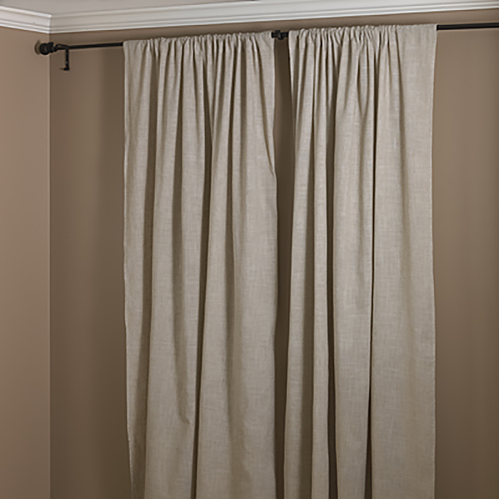 natural beige classic tuscany hemtitch design curtain panel 3 inch rod pocket 57 inch wide x 108 inch long 1 piece walmart com