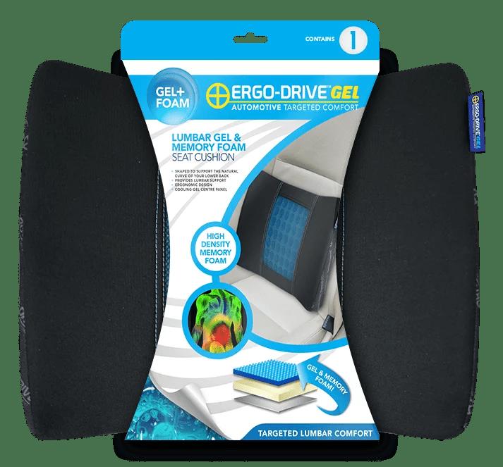 ergo drive universal gel and memory foam lumbar seat cushion