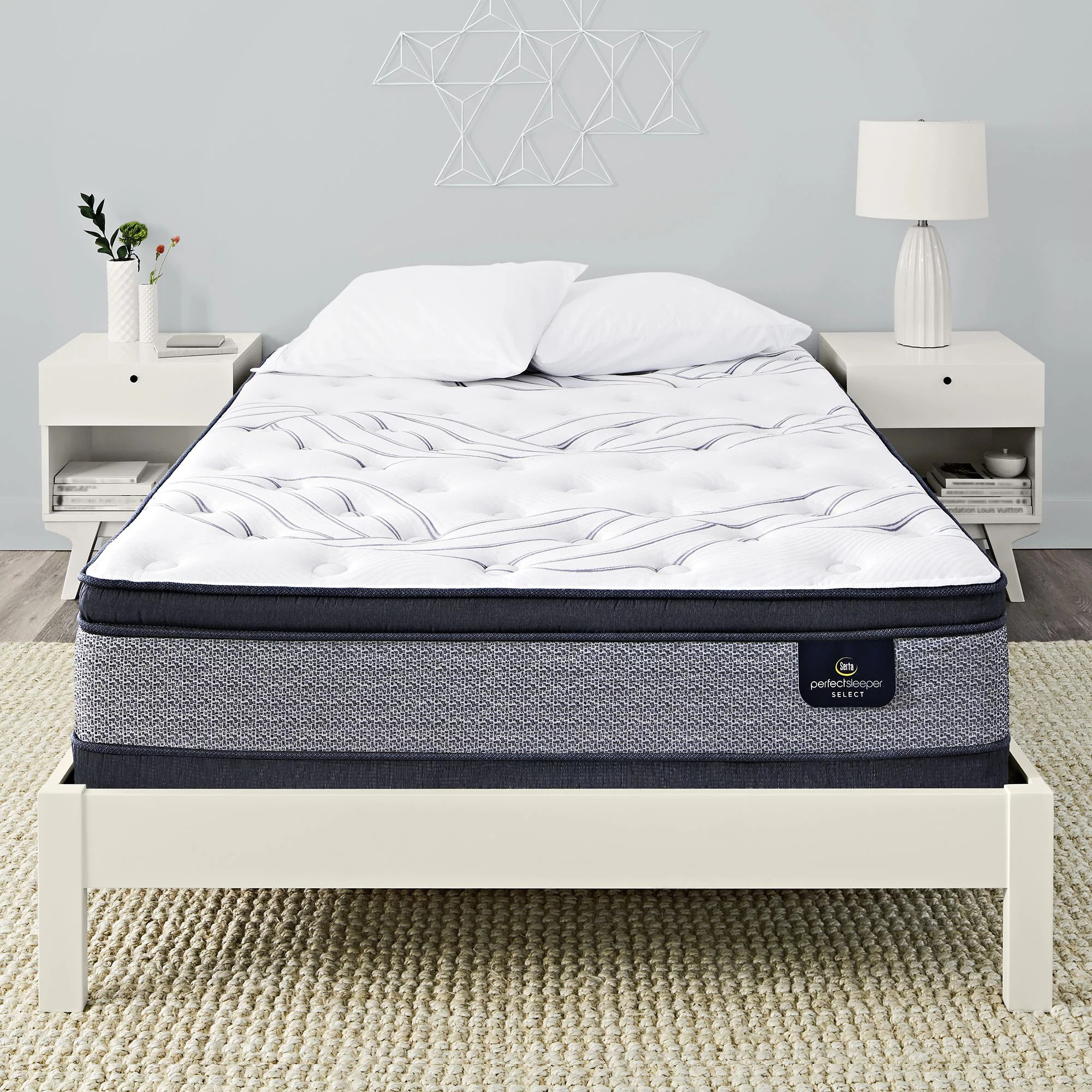 serta perfect sleeper kleinmon ii pillowtop firm queen mattress walmart com