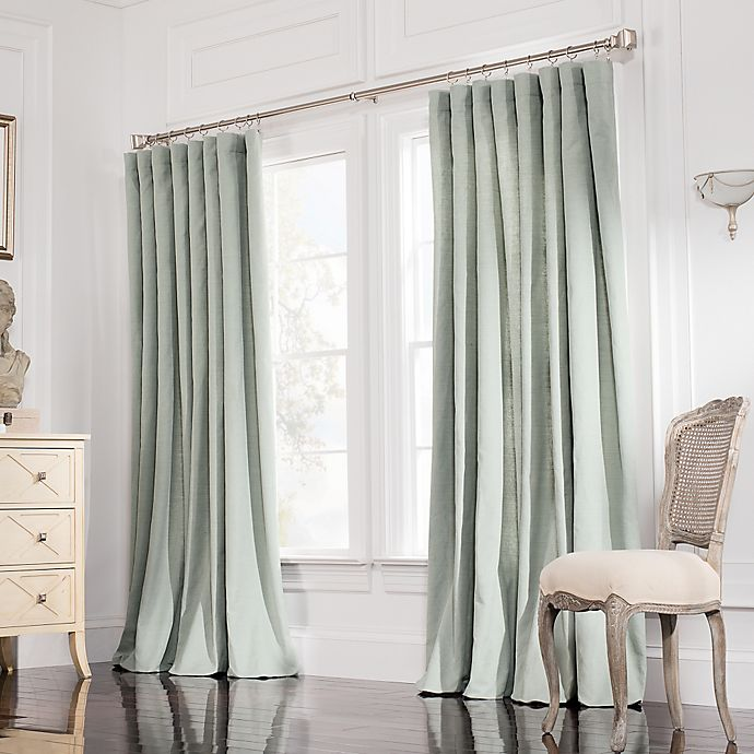 valeron estate 84 inch rod pocket insulated double width window curtain panel in spruce