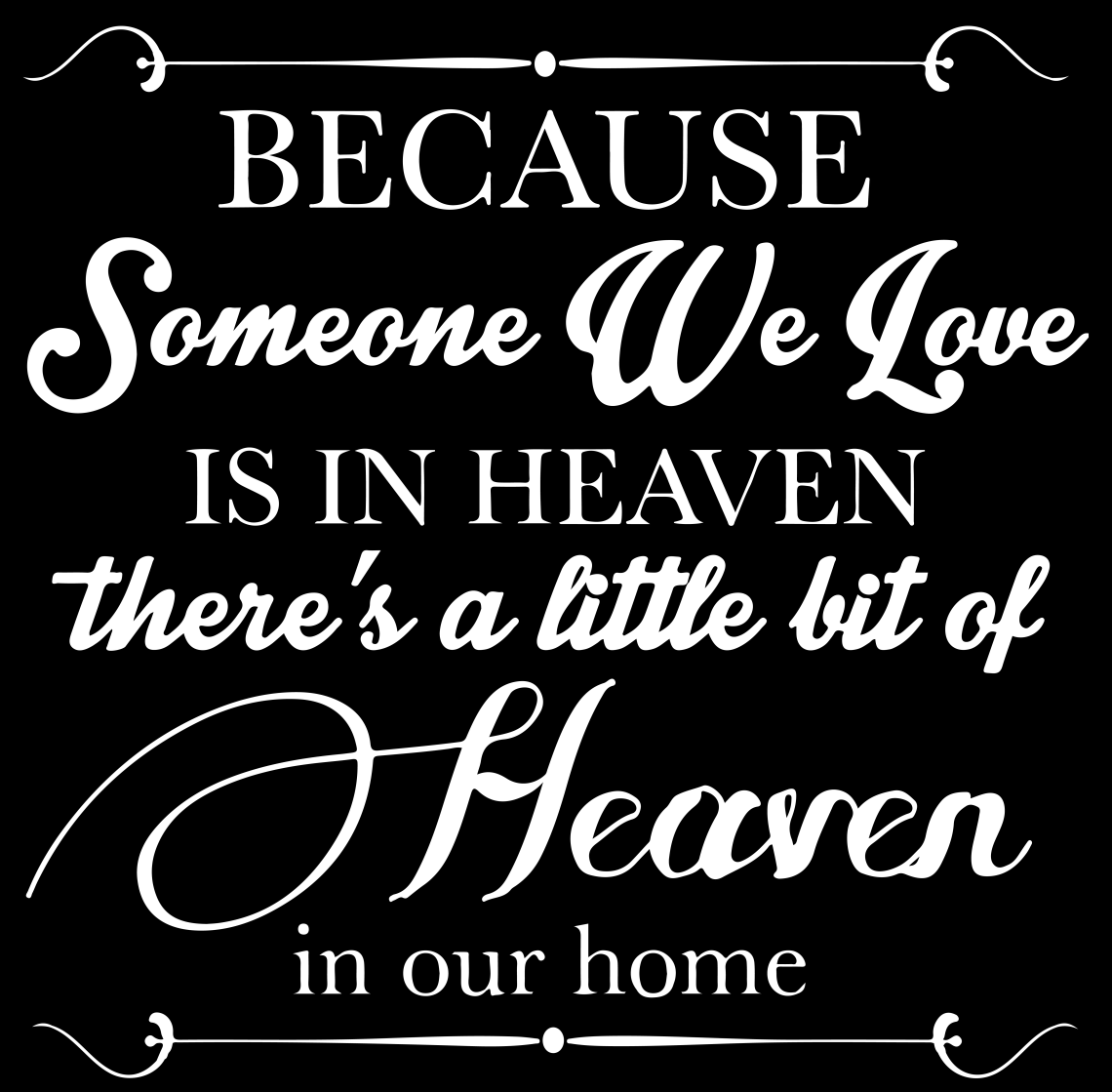 Download Because someone we love is in heaven there's... Vinyl ...