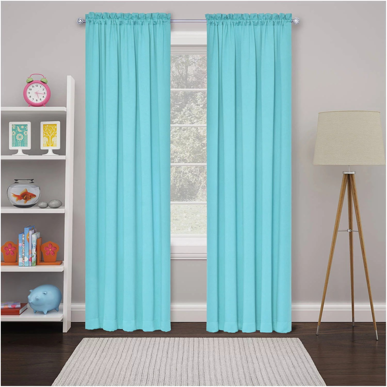 eclipse tricia room darkening curtain panel pairs walmart com