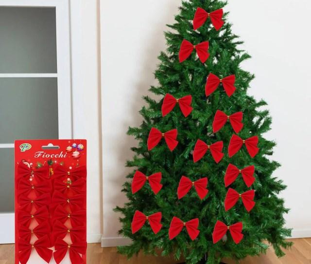 Vbestlife Pcs Set Bowknot Christmas Tree Hanging Ornament Xmas Festival Party Indoor Decoration Christmas