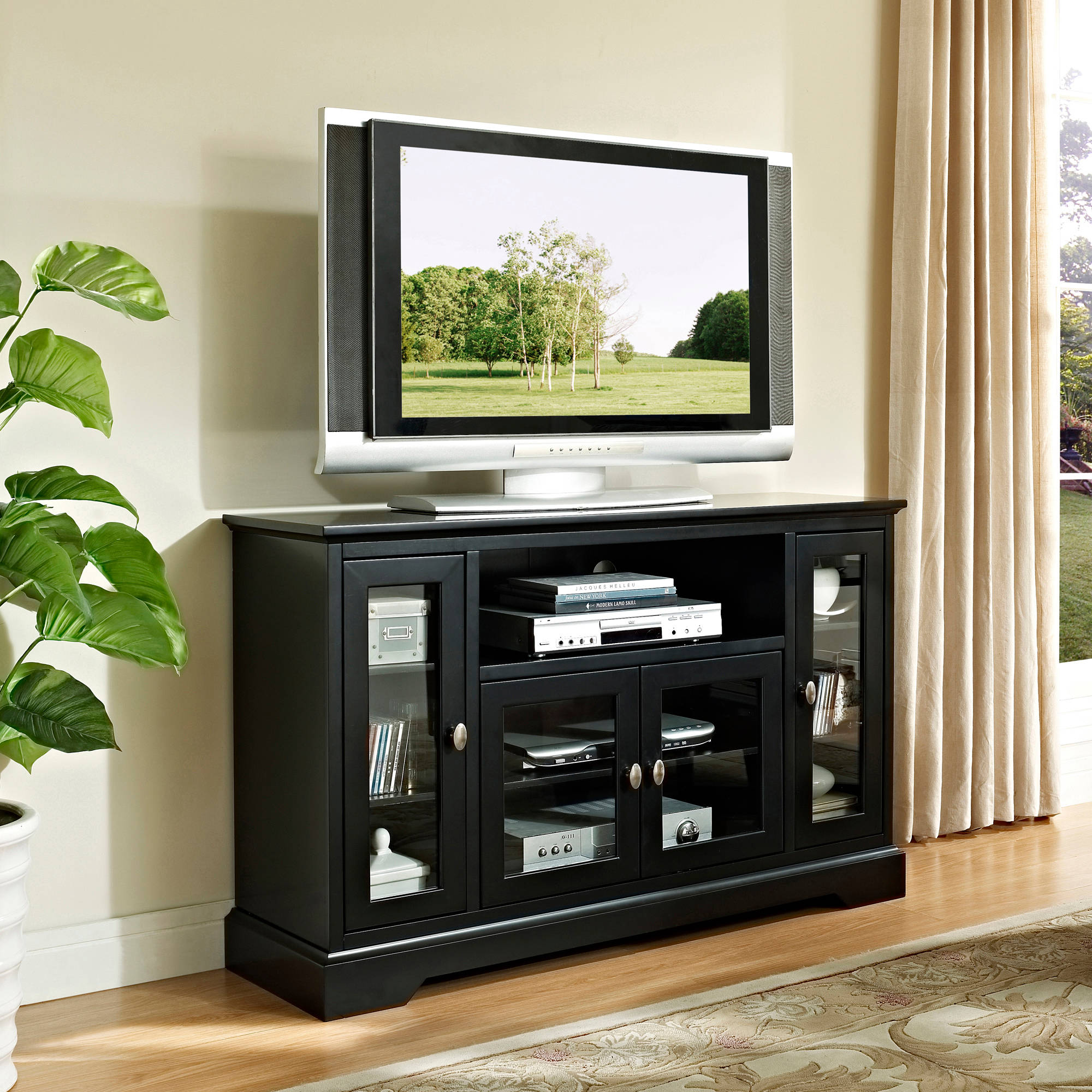 """walker edison highboy-style tv stand for tvs up to 55"""", muliple"""