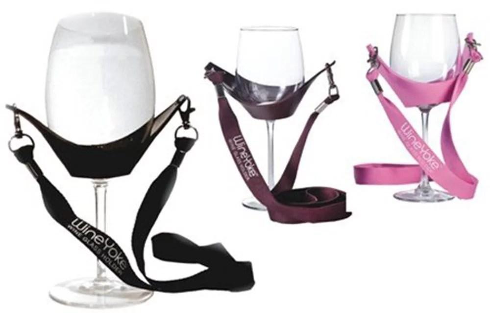 wine glass holder wineyoke hand free wine glass lanyard necklace set of 3